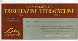 Buvard - Trisulfazine, Tétracycline, Labaz - Produits Pharmaceutiques