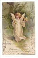 10815 - Jolie Carte Fantaisie Ange  La Gloire De L'Eternel Remplira Toute La Terre - Altri