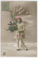 Bonne Année - Enfant Tenant Du Houx Dans Un Paysage De Neige - Voir 2 SCANS -   / 1579A - Nieuwjaar