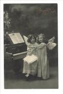 10819 - Joyeux Noël  Anges Piano - Weihnachten