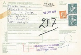 Sweden 1978 Svenska FN-Batallionen Mellersta Ostern UNEF Parcel Card Bulletin D'expedition - Brieven En Documenten