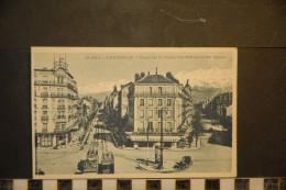 CP, 38, GRENOBLE Place De La Gare Les Hotels Et Les Alpes N°10 630 Edition Dauphiné Paysages A Mollaret - Grenoble