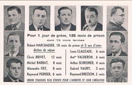 FRANCE C.P.A  EVENEMENT  GREVE DES PTT   Grévistes Condamnés - Grèves