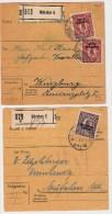DR, 1920, EF Und MeF, 2 Paketkarten  #1042 - Briefe U. Dokumente