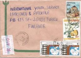 Senegal 1993 Thies Monument Desert Date Balanites Antarctica Maritime Year Registered Cover - Senegal (1960-...)
