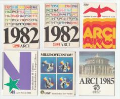 TESSERA - N. 6 TESSERE ARCI UISP  1980 1982 1982 1985 1987 1988 - Documentos