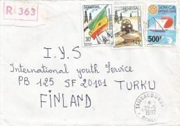 Senegal 1992 Tambacounda Rotary Sailing Peacekeeping Gulf War Saudi Arabia Registered Cover - Senegal (1960-...)