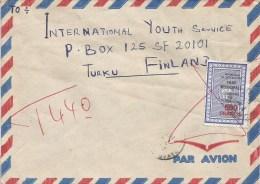 Senegal 1985 Dakar Yopougon Abidjan Cote D´Ivoire Fiscal Taxed Cover - Ivoorkust (1960-...)