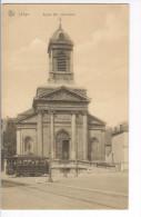 CP Liège Eglise Ste Véronique (et Tram)  Vers 1908. Bistre Très Rare - Liege