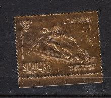 Sharjah   -   1968.  Sciatore Su Lamina Dorata.  MNH - Inverno1968: Grenoble