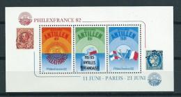 1982 Netherlands Antilles Complete M/Sheet Philexfrance'82 MNH,Postfris,Neuf Sans Charniere - Curaçao, Nederlandse Antillen, Aruba