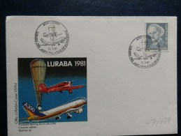 47/627  FDC   SUISSE - Airships