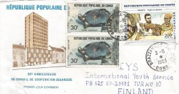 Congo 1983 Brazzaville Tortoise Turtle Reptile Discoverer De Brazza Cover - Congo - Brazzaville