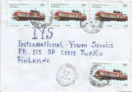 Congo 1990 Brazzaville Train DR-16 Finland Cover - Congo - Brazzaville