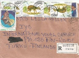 Congo 1996 Ouesso Water Chevrotain Antilope Year Family Registered Cover - Congo - Brazzaville
