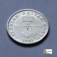 Gran Bretaña - British West Indies - 1/8 Dollar - 1822 - Colonias