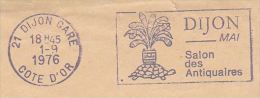 1976 Dijon FRANCE COVER SPOGAN Pmk Illus TORTOISE  Stamps - Reptiles & Amphibians