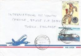 Congo 1996 Brazzaville Olympic Games Atlanta Fencing Hydravions Airplane Cover - Congo - Brazzaville
