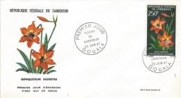 Cameroon Cameroun 1967 Douala Hippeastrum Flower FDC Cover - Kameroen (1960-...)