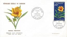 Cameroon Cameroun 1967 Douala Thevetia Flower FDC Cover - Kameroen (1960-...)