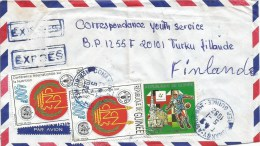 Guinea 1992 Conakry World Cup Football Italia Napoli Church FAO WHO Express Cover - Copa Mundial