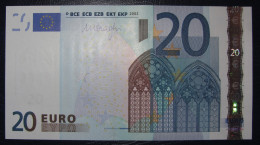 20 EURO R029G1 Draghi Netherlands  Serie P Perfect UNC - EURO