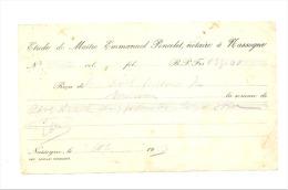 Reçu De Maître Emmanuel Poncelet, Notaire à NASSOGNE En 1943 (sf98) - Factures & Documents Commerciaux