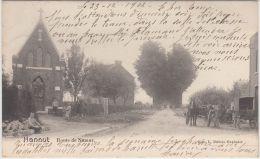 23702g  EGLISE - CHARRETTE à CHEVAL - ROUTE De NAMUR - Hannut - 1902 - Hannut