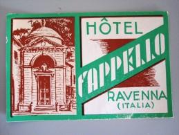HOTEL PENSIONE ALBERGO FAPPELLO RAVENNA ITALIA ITALY DECAL STICKER LUGGAGE LABEL ETIQUETTE AUFKLEBER - Hotel Labels