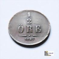 Suecia - 1/2 Ore - 1857 - Schweden