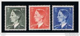 BOUDEWIJN/BAUDOIN - COB : 909/11 -  1952*** - Unused Stamps