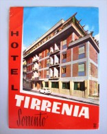 HOTEL PENSIONE ALBERGO TIRRENIA SORRENTO ITALIA ITALY TAG DECAL STICKER LUGGAGE LABEL ETIQUETTE AUFKLEBER - Hotel Labels