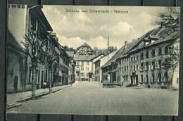 """CPSM S/w AK German Empires,DR Schwarzwald Schönau,bei Freiburg """"Schönau-Talstrasse,belebt   """" 1 AK Blanco - Deutschland"""