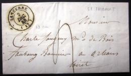 Cachet Type 15  --  SANCERRE  --  CHER  --  LAC  --  1848 - Marcophilie (Lettres)