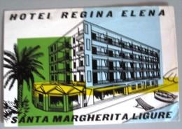 HOTEL PENSIONE ALBERGO REGINA ELENA LIGURE ITALIA ITALY TAG DECAL STICKER LUGGAGE LABEL ETIQUETTE AUFKLEBER - Hotel Labels