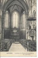 oostende ostende interieur kerk sasslykens  zeldzame kaart