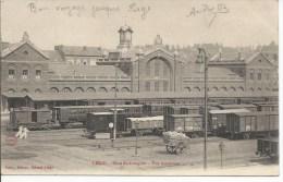 gare statie station  de longdoz zeldzame kaart