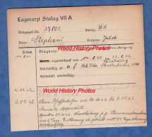 Fiche Ancienne - STALAG VII A - Prisonnier Jakob STEPHANI De PONTCHARRA Sur BREDA - 171e Régiment RIF - WW2 Pow Juif ? - 1939-45