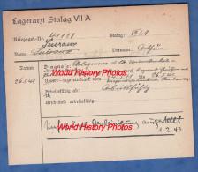 Fiche Ancienne - STALAG VII A - Prisonnier Arthur SUIRAUX De AUCHEL ( Pas De Calais ) - 133e Régiment RIF - WW2 Pow - 1939-45