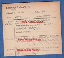 Fiche Ancienne - STALAG VII A - Prisonnier Maurice SERCA De PUISEAUX ( Loiret ) - 13e Régiment Transmissions ? - WW2 Pow - 1939-45