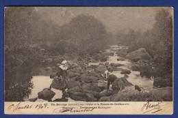 29 ERGUE-GABERIC Un Barrage Naturel Sur L'Odet à La Pointe De Griffonnés, Stangala ; Laveuses, Lavandières - Animée - Ergué-Gabéric