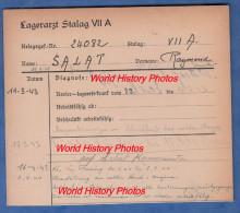 Fiche Ancienne - STALAG VII A - Prisonnier Raymond SALAT De PARIS - 88e Bataillon De Chasseurs à Pied BCP - WW2 Pow - 1939-45