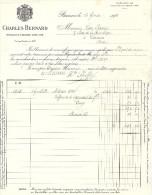 FACTURE Charles BERNARD Négociant A BEAUNE 21 Cote D'or ( Illustrateur Illustration Blason ) - Food