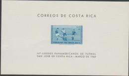 O) 1960 COSTA RICA, PAN AMERICAN GAMES FOOTBALL SAN JOSé DE COSTA RICA, SOUVENIR MNH - Costa Rica