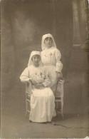 Carte Postale Photo De Deux Infirmiéres De L´ambulance Des Capucins A Carcassonne 1914 1915 Voir Texte Au Dos - Carcassonne