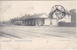 INGELMUNSTER - Binnenzicht der Statie (La Gare) - Uitg Beernaert - verz 1913 (2 scans)