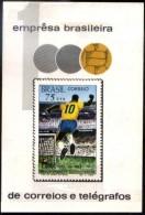 BRAZIL #1145  -  1000th Goal Of Pele  - Soccer  - Football  1969 -  SOUVENIR SHEET - Brazil