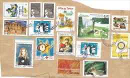 Bel Affranchissement (fragment)  Oblitérations Rondes, Inclus Unesco,Rotary Adhesif,etc. - France