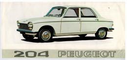 PEUGEOT 204 PETIT DEPLIANT 2 VOLETS 1968  Format 21 X 10 FRANCE - Advertising