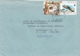 Croatia 1999 Jastrebarsko Church WWF Meadow Adder Viper Snake Cover - W.W.F.